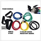 Ghope Home Work Out Resistance Bands Kit Set Abs Fitness Yoga Gym