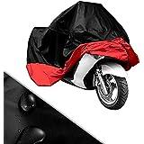 HOUSSE protection /BACHE MOTO velo /SCOOTER Taille XXL rouge noir 270cm*145cm*125cm resistant