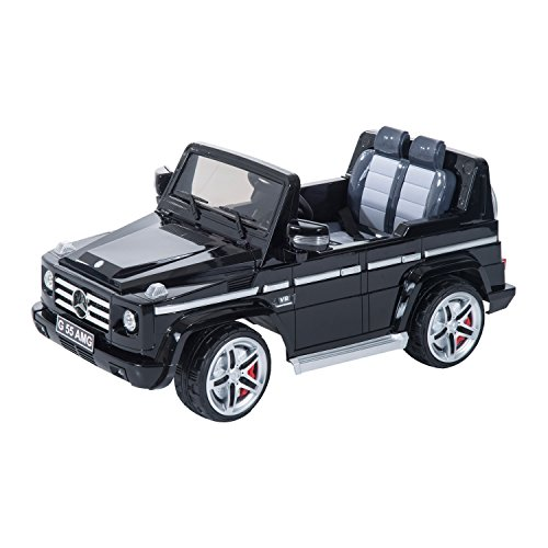 Mercedes-Benz G55 12V Kids Electric Battery Toy Ride-On SUV Car w/ Remote Control - Black (Ride On Battery Car compare prices)