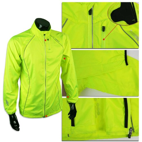 Ozon of Sidenslipsen Brand New Man Neon Running & Cycling Jacket 5 Sizes Choose (L)