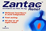 Zantac 75 Relief - Pack of 6 Tablets