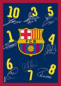 Associated Weavers 616545 Tapis FC Barcelone Autographes Polyamide Mousse Gel 95 x 133 cm