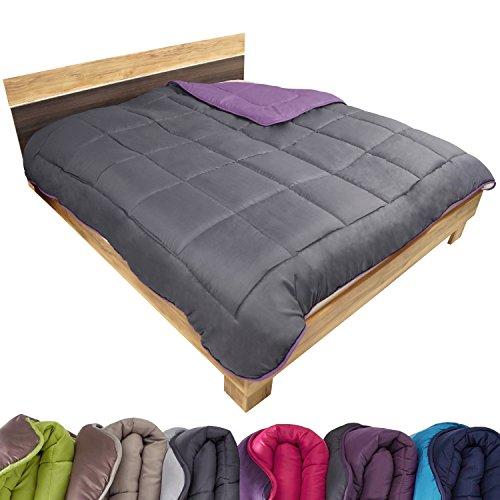 beautissu bett berwurf tagesdecke 140x200 cm einzelbett. Black Bedroom Furniture Sets. Home Design Ideas