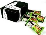 Amella Vegan Dark Chocolate Gray Sea Salt Caramel, 1 oz Packs in a Gift Box (Pack of 4)