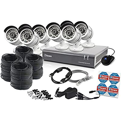 Swann 4600 DVR, 1080P Surveillance System, Gray (SWDVK-846008-US)