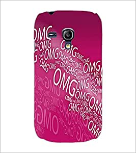 PrintDhaba Typography D-5587 Back Case Cover for SAMSUNG GALAXY S3 MINI (Multi-Coloured)