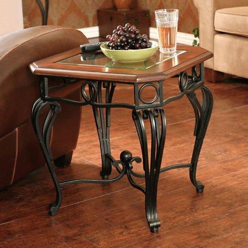 Cheap Southern Enterprises CK7542 Prentice End Table, Dark Cherry (CK7542)