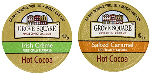 Grove Square Hot Cocoa Irresistible Flavors Variety Pack, 72 Single Serve Cups Cocoa Creme