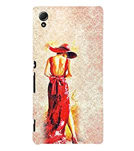 Girl in Red Dress 3D Hard Polycarbonate Designer Back Case Cover for Sony Xperia Z4