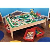 Waterfall Mountain Train Table with 3 Bins and 120 Pc Train Set