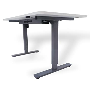Office Fitness Height and Length Adjustable Desk | High Riser 2EA Black Frame Only nero