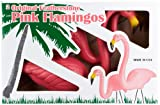 Tropix Set of 2 Plastic Lawn Flamingos