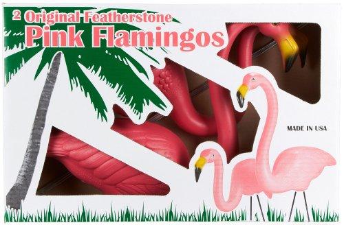 Tropix Set Of 2 Plastic Lawn Flamingos No Sz Pink