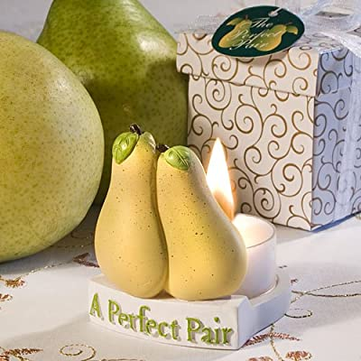 A Perfect Pair - Pears Shaped Tealight Holder - Valentines Day Gift Idea