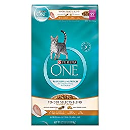 Purina ONE Tender Selects Cat Food, Real Chicken & Turkey Flavor, 22-Pound Bag, Pack of 1