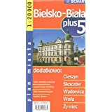 Poland City Map Bielsko-Biala + 5 Other Cities: Cieszyn, Skoczow, Wadowice, Wisla, Zywiec