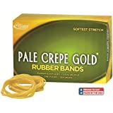 Alliance Pale Crepe Gold Size #64 (3 1/2 x 1/4 Inches) Premium Rubber Band, 1/4 Pound Box (Approximately 122 Bands per Box) (20649)