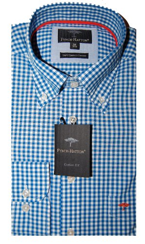 Fynch Hatton Mens Casual Shirt 131-5100 Electric Blue (X Large)