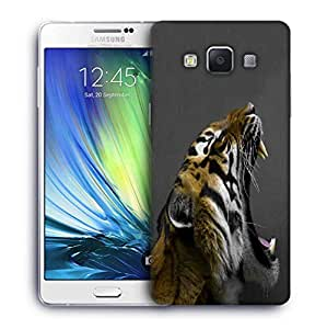 Snoogg Tiger Roar Printed Protective Phone Back Case Cover For Samsung Galaxy A7