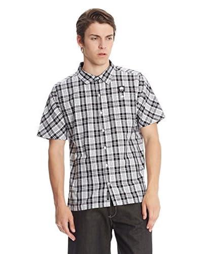 Wrung Camicia Uomo Steele [Bianco/Nero]