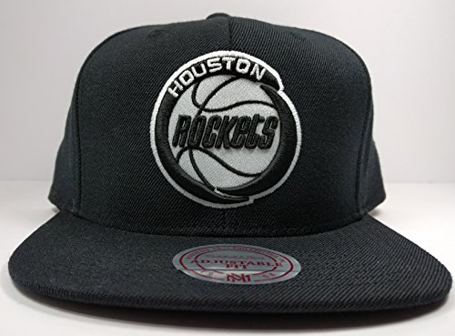 Mitchell & Ness Houston Rockets Black White HWC Vintage Solid Wool Adjustable Snapback Hat NBA (Nba Jersey Alternative compare prices)