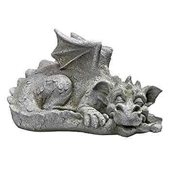 Design Toscano Blushing Babel The Bashful Dragon Statue, Medium
