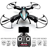 FPV-Drone-Zeus-Quadcopter-with-Camera-Live-Video-First-Person-View-Flight-in-VR-Real-Time-Feed-Control-on-your-iPhone-Andriod-Air-Pressure-Altitude-Lock-Headless-mode-Easy-Return-Home