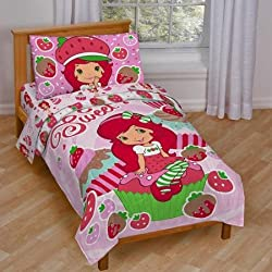 Baby, Childrens, Toddler 4 Piece Bedding Set (Strawberry Shortcake)
