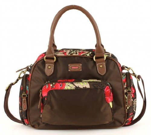 Oilily Paisley Flower Handbag Damenhandtasche 8803 brown
