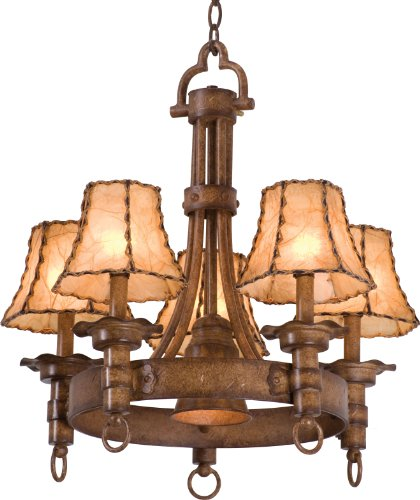 Kalco 4205BG/8045, Americana Candle 1 Tier Chandelier Lighting, 6 Light, 350 Total Watts, Bellagio