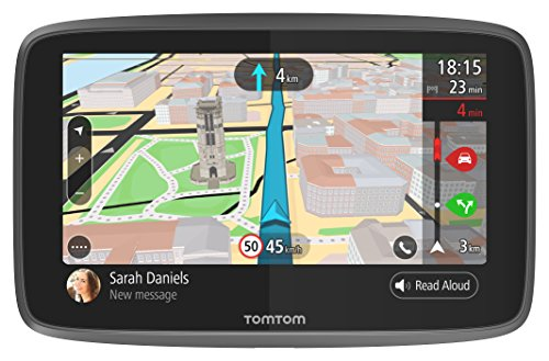 TomTom BV 1pl6.002.01 Go 6200 Navigation 6 Inch Update via WiFi, Phone Alerts, Handsfree, Cast Iron (World), Traffic via built-in Sim Card - Active Magnetic Holder - Black