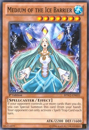 Yu-Gi-Oh! - Medium of the Ice Barrier (BPW2-EN031) - Battle Pack 2: War of the Giants - Round 2 - 1st Edition - Common (Yugioh Ice Cards compare prices)