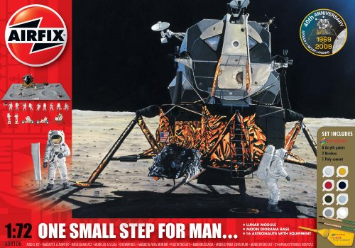 Airfix A50106 1:72 Scale NASA One Small Step For Man - 40th Anniversary of the Moon Landing Space Exploration Gift Set