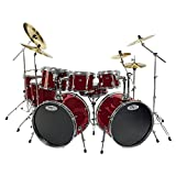 Sound Percussion Pro 8-piece Double Bass Drum Set Wine Red Picture