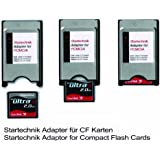 PCMCIA Compact Flash Adapter TYP I für Compactflashgeräte, CF GPS Empfänger, CF Speicherkarten für Beamer, Tachymeter, Projektoren, Laptop, PC und Karten an Laptop Notebook anzubinden. CompactFlash (CF) auf PCMCIA Adapter.