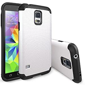 [FREE Back Frame/HD Film-SLIM Max Protection] Ringke® Galaxy S5 Coque Double Layer Heavy Duty Protection Armor Étui [PEARL WHITE] Double Layer Heavy Duty Protection Case Cover Coque Étui Housse de Protection Protecteur Étui pour Samsung Galaxy S5 / Galaxy SV / Galaxy S V (2014)[Eco Package]
