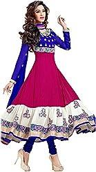DHAWANI MARKETING PINK DESIGNER DRESS MATIREAL