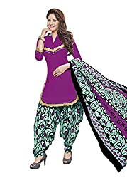 Gugaliya Women's ROYAL CLASS Premium CELEBERATION Series 100 % Cotton UNSTICHED Pink Green color Salwar, Kameez & Dupatta Suit (Baalar 413)