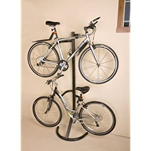 Click to buy Garage Bicycle Storage: Racor Pro PLB-2R Two-Bike Gravity Freestanding Bike Stand from Amazon!
