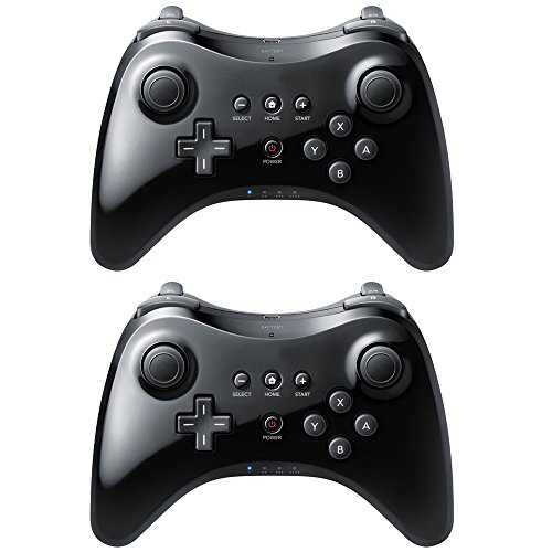 2X Wii U Pro Nintendo Controller Wireless Bluetooth Black Gamepad (Ninja Turtles Ping Pong Balls compare prices)