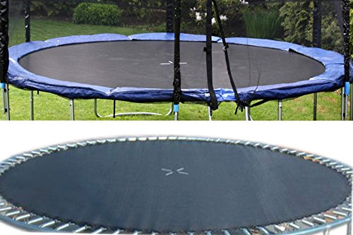 Sprungtuch für 460 cm Trampolin schwarz 15FT mit 90 Ösen Spr -