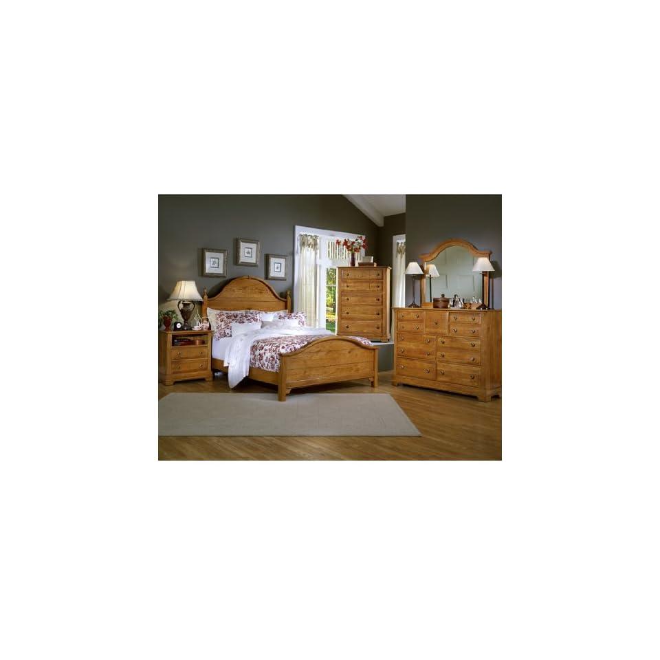 Com Cottage Oak Panel Bedroom Set By Vaughan Bassett Home