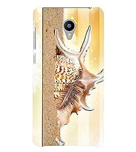 PrintVisa Modern Art Snail 3D Hard Polycarbonate Designer Back Case Cover for Meizu M3