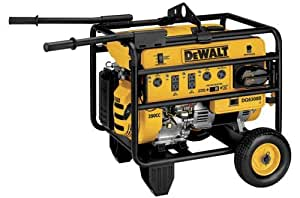 DeWalt DG6300B, 5950 Running Watts/6300 Starting Watts, Gas Powered Portable Generator, CARB Compliant (Discontinued by Manufacturer)