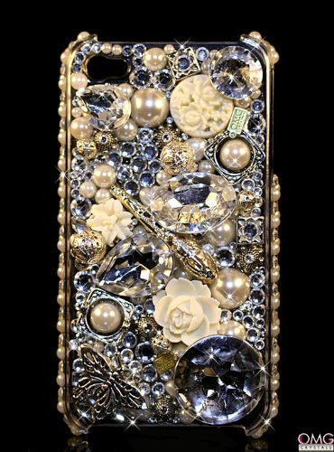 iPhone 4 & 4s Swarovski Crystal Bling Diamante Case Cover -