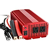BESTEK カーインバーター 1000W シガーソケット 車載充電器 ACコンセント 2口 DC12VをAC100Vに変換 MRI10010
