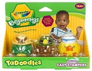 Crayola 3ct. TaDoodles Washable Easy Stampers (Crocodile, Beaver, Duck)