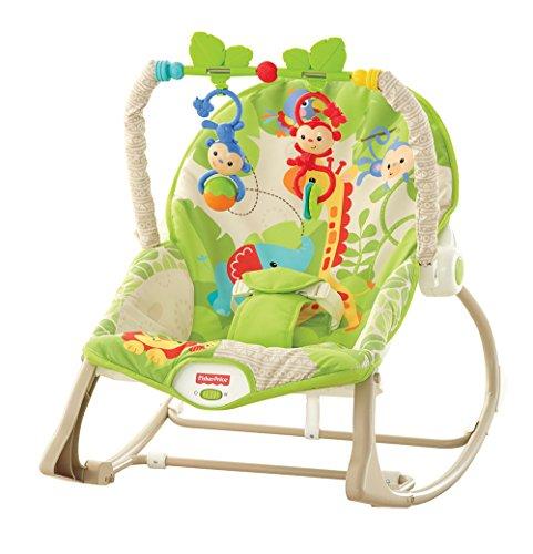 Fisher Price CBF52 - Baby Gear Seggiolino Dondolino Cuccioli della Natura