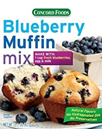 Concord Blueberry Muffin Mix - 15oz Boxes (2 Boxes)
