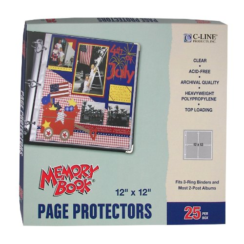 c-line-memory-book-12-x-12-inch-scrapbook-page-protectors-clear-poly-top-load-25-pages-per-box-62021